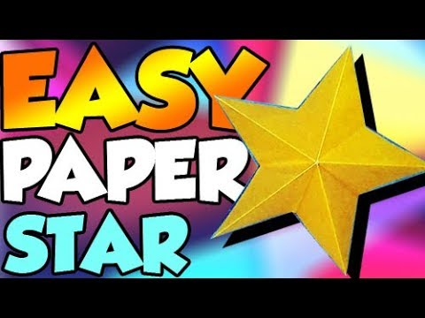 How to Make Paper Star? Easy Origami Papercraft Instructions Step by Step