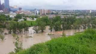 Calgary Flood June 21, 2013 overlooking Stampede