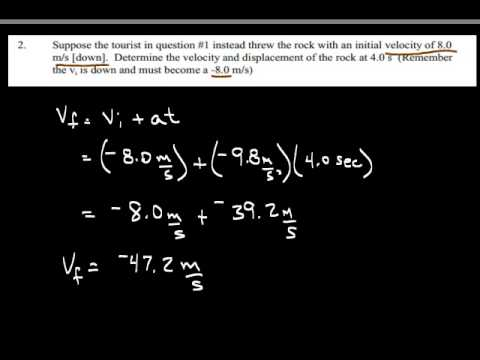 Science 10 physics: Worksheet #5 Freefall Acceleration due to ...