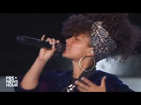 Watch singer Alicia Keys perform at the 2016 Democratic National Convention