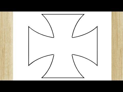Como Desenhar A Cruz De Malta Do Vasco Da Gama Youtube