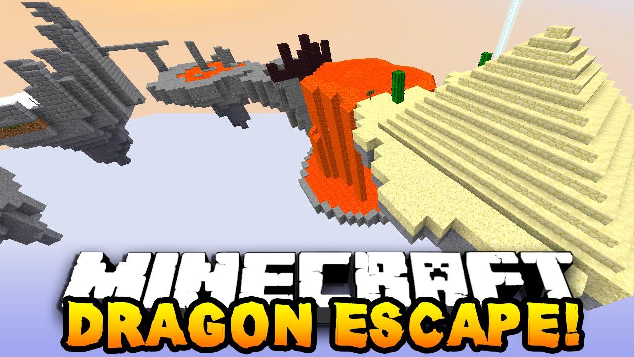 """Minecraft DRAGON ESCAPE """"FUNNY MOMENTS!"""" #4 (Minecraft Parkour Runner) w/PrestonPlayz & Lachlan"""