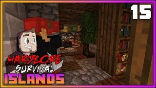 Hardcore Survival Islands ► ENCHANTING ROOM/LIBRARY!!! ► EP.15 [Minecraft 1.12 Hardcore Survival]
