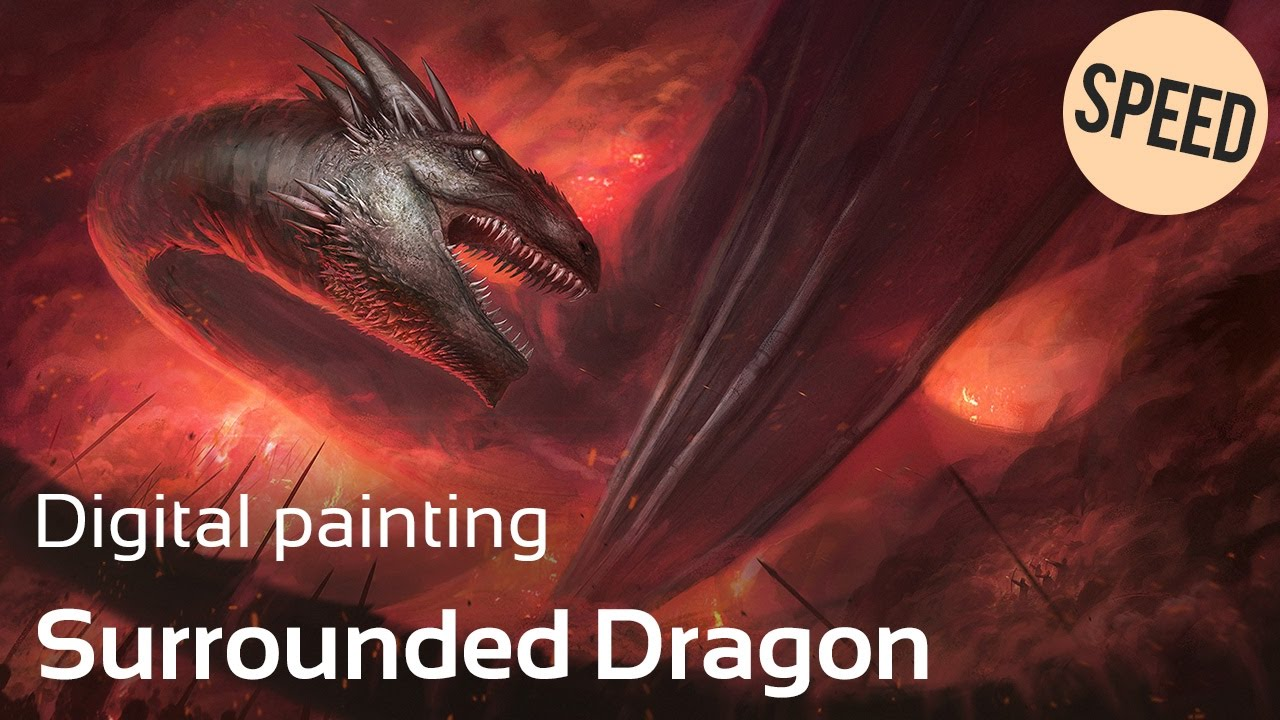 """DIGITAL PAINTING - """"Surrounded dragon"""""""