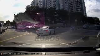 ألوان الوطن| بالفيديو| شبح سيارة يثير الذعر في إشارة مرور