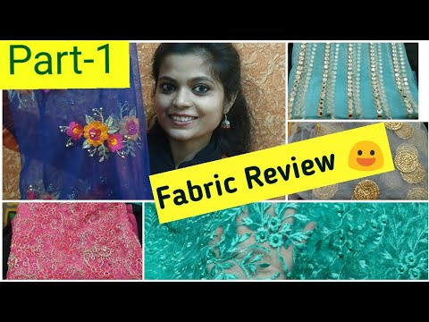 Fabric Review 😃 Beautiful collection 😍..Buy Online!!! Part 1