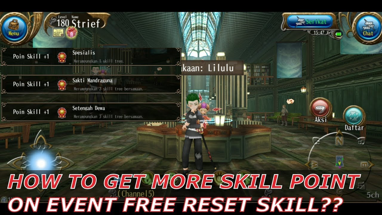 Toram Online - How To Get More Skill Point (Event Free Reset Skill)