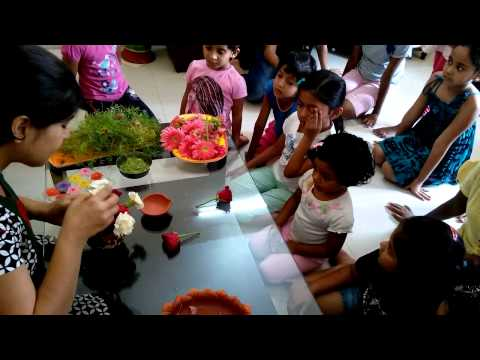 Talent Summer Camp Bangalore with Karma Trivedi_Flower Arrangement