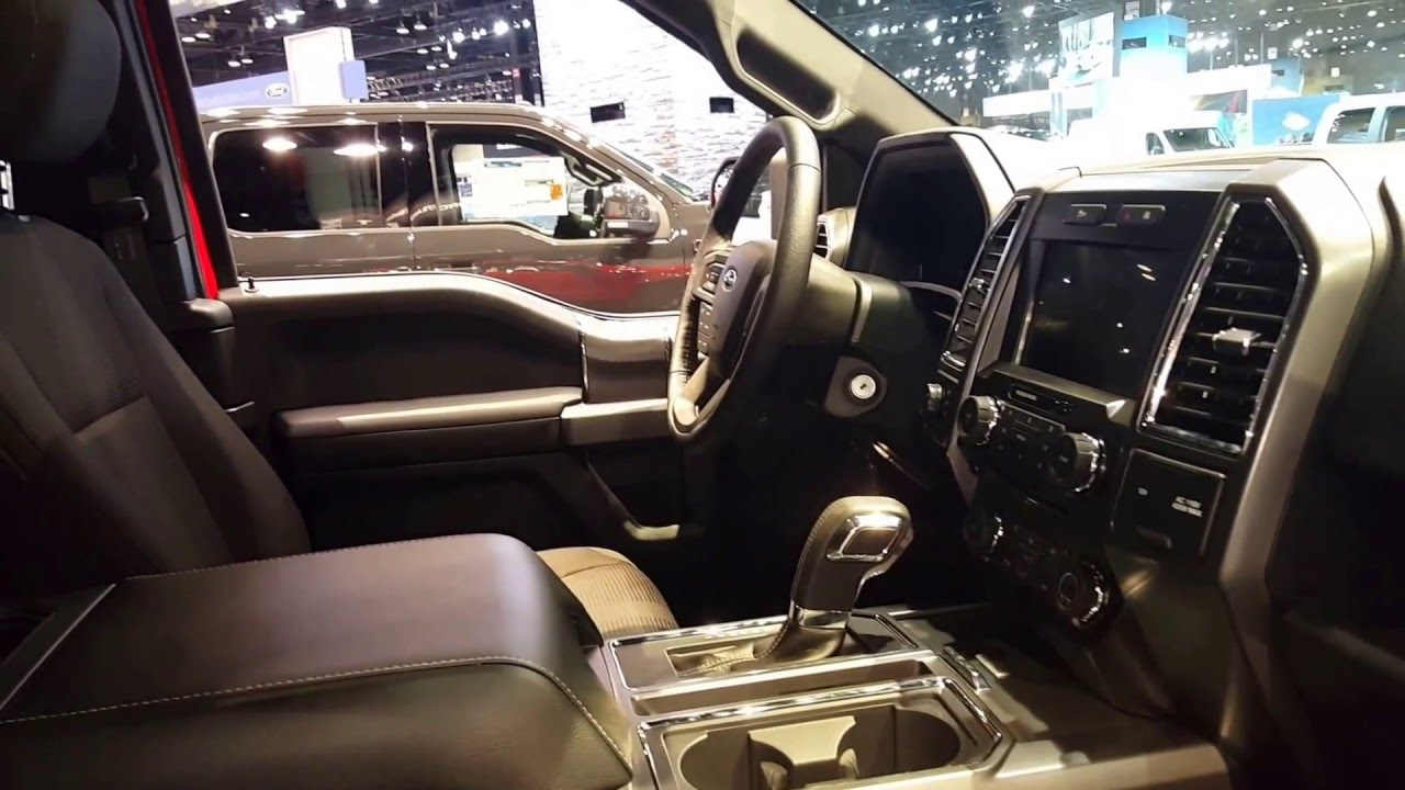2016 ford f 150 xlt sport interior 2016 chicago auto show youtube. Black Bedroom Furniture Sets. Home Design Ideas