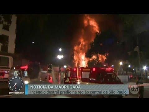 Tragédia em SP: Prédio ocupado por sem-teto pega fogo e desaba | Primeiro Impacto (01/05/18)