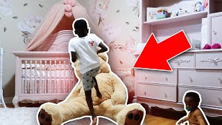Moving Teddy Bear Prank On Siah!! *CRAZY REACTION*
