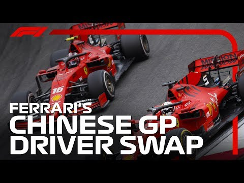 Ferrari Drivers Swap Positions | 2019 Chinese Grand Prix