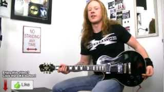 Power Metal Guitar Riff Lesson - Taberah Guitarist Guest Electric Guitar Tutorial