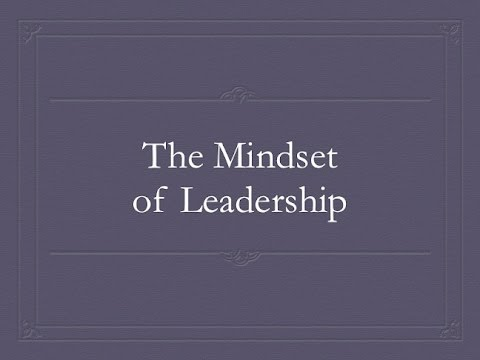 Texas Literacy Initiative - The Mindset of Leadership