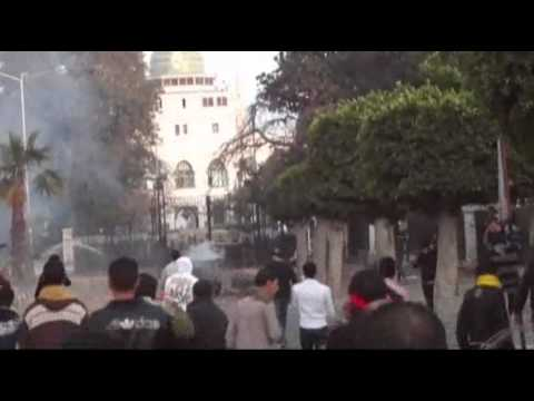 Raw Video: Soldiers, Soccer Fans Clash in Egypt