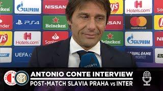 SLAVIA PRAHA 1-3 INTER | ANTONIO CONTE INTERVIEW: