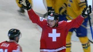 Sweden - Switzerland 2-3(Great upset in Day1 of 2013 IIHF World Championship Preliminary Round, with underdog Switzerland which defeated 3-2 home team Sweden, in a very ..., 2013-05-03T21:43:38.000Z)
