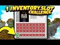 1 INVENTORY SLOT CHALLENGE! (Minecraft Skywars)