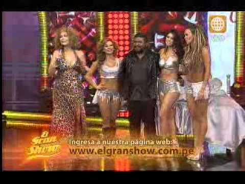 El Gran Show: Angie Arizaga y Sully Sáenz bailaron reggaetón junto a