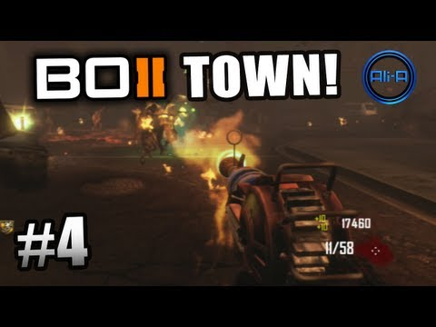 "Black Ops 2 ZOMBIES GAMEPLAY - ""TOWN"" Survival Live w/ Ali-A - Part 4 - Call of Duty BO2"