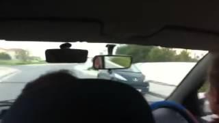 Маринин первый урок вождения