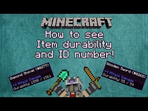 Minecraft Tips And Tricks How To See Item Durability And Id Number No Mods Youtube