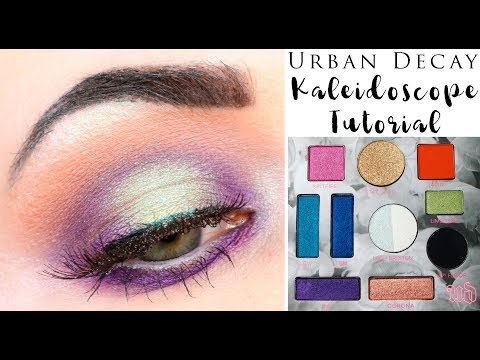 Urban Decay Kristen Leanne Kaleidoscope Palette Tutorial   Green & Purple Halo Eye Hooded Eyes