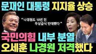 국민의힘 내부 분열!! 오세훈 '나경원 저격&#…