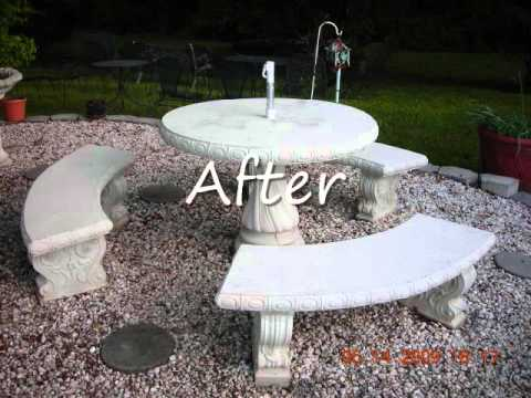 Vinyl Amp Concrete Outdoor Furniture Clean Youtube