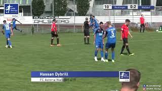 A-Junioren: 0:2 - Hassan Dybrill - FC Astoria Walldorf U19