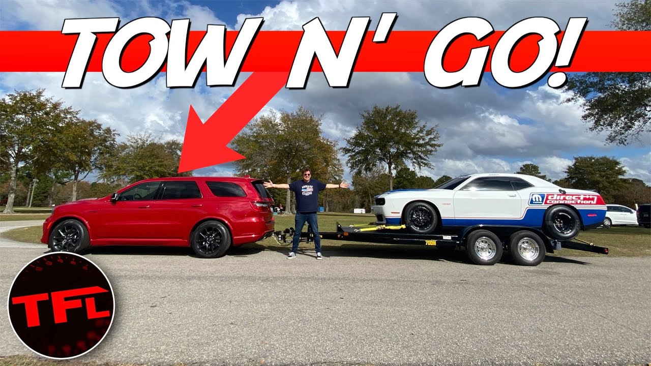 How Does the 2021 Dodge Durango HEMI V8 Tow? I Tow a Dragster to Find Out