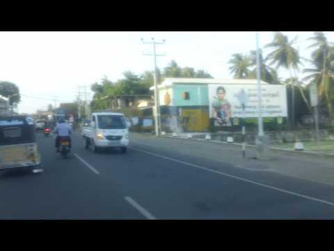Driving in Jaffna Town, Sri Lanka
