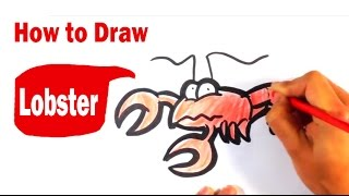 How to Draw a Lobster - Cute Art - Easy Pictures to Draw