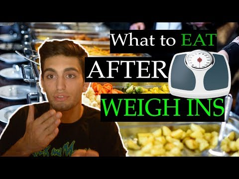 What To Eat After Weight Ins (Wrestling / MMA / Jiu Jitsu)