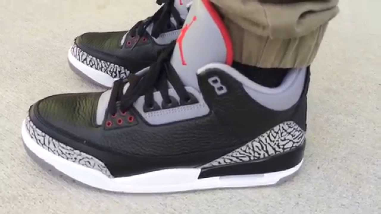 air jordan 3 retro og black cement