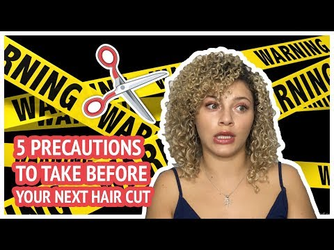 WARNING SIGNS THAT YOU'RE IN FOR A BAD CURLY HAIR CUT