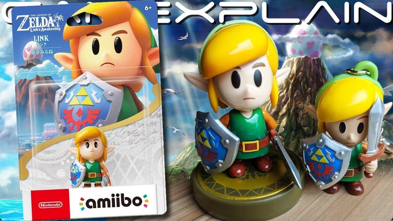 Zelda Link S Awakening Amiibo Unboxing Bonus Link Keychain