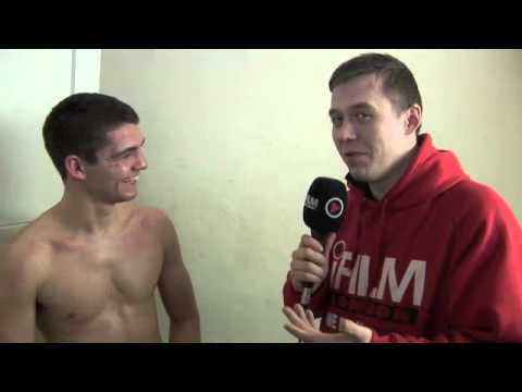 BILLY MORGAN BEATS DAN CARR ON POINTS AT YORK HALL / POST-FIGHT INTERVIEW FOR iFILM LONDON