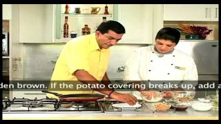 Aloo Tikki Chaat (Potato tangy snack)