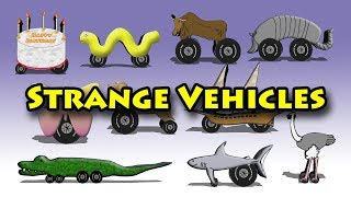 Strange Vehicles - Count To Ten For Kids