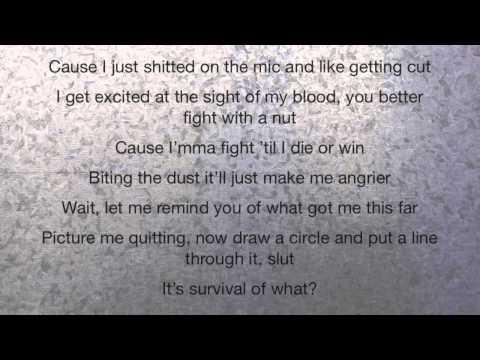 Eminem - Survival ft. Skylar Grey - Lyrics