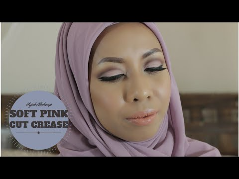 soft-pink-cut-crease-eyeshadow-/-makeup-untuk-hijab-(-requested-video-)-indonesia-language