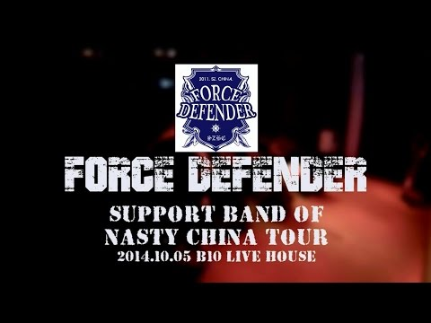 Force Defender Live @ Shenzhen in NASTY China Tour 2014 CHINA HARDCORE