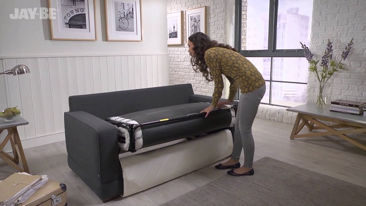 jay-be® modern sofa bed with pocket sprung mattress - youtube OJ4VRH6P