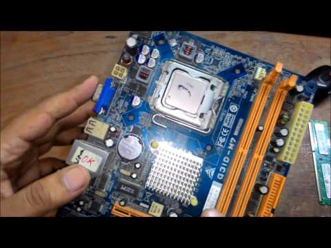 How To Repair No Display Motherboard Monitor Going To Sleep Problem