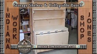 Vlog 4 Shelf Storage & Collapsible Bench Combo
