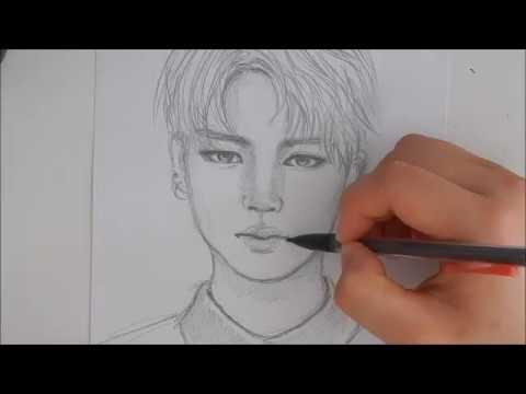 Как нарисовать чимина карандашом