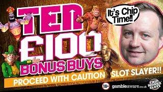 Online Slots - 10 Bonus Buys Can We Win Big??? £1000 Raw