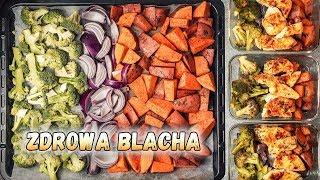 Zdrowa BLACHA z piekarnika - Kurczak 200+ z warzywami / LunchBOX na 3 dni