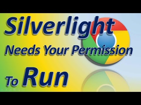 Silverlight needs your permission to run how to fix